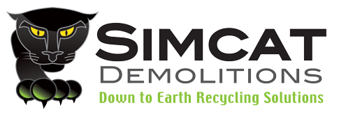 Fire-Damaged Structure Demolition: Hire Simcat Demolitions | Simcat Demolitions Melbourne Logo